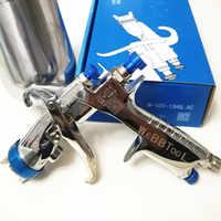 Echtes qr cod W-101 Spray Gun 134G w101 HVLP Hand Farbe spray Gun Gravity 1,0/1,3/1,5 /1,8mm Möbel Auto Beschichtung Malerei
