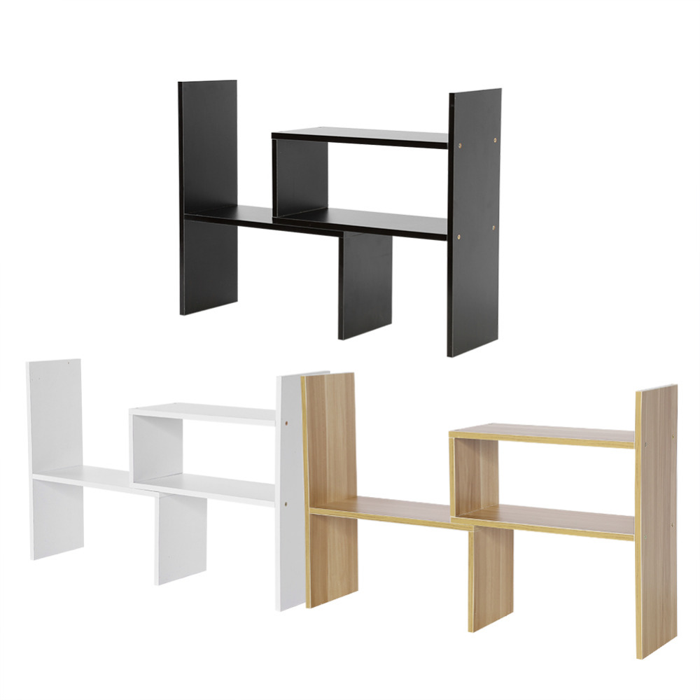 Particle Board DIY Table Desktop Organizer Storage Rack Display Shelf Organizer Counter Top Bookcase For Study Home Office table