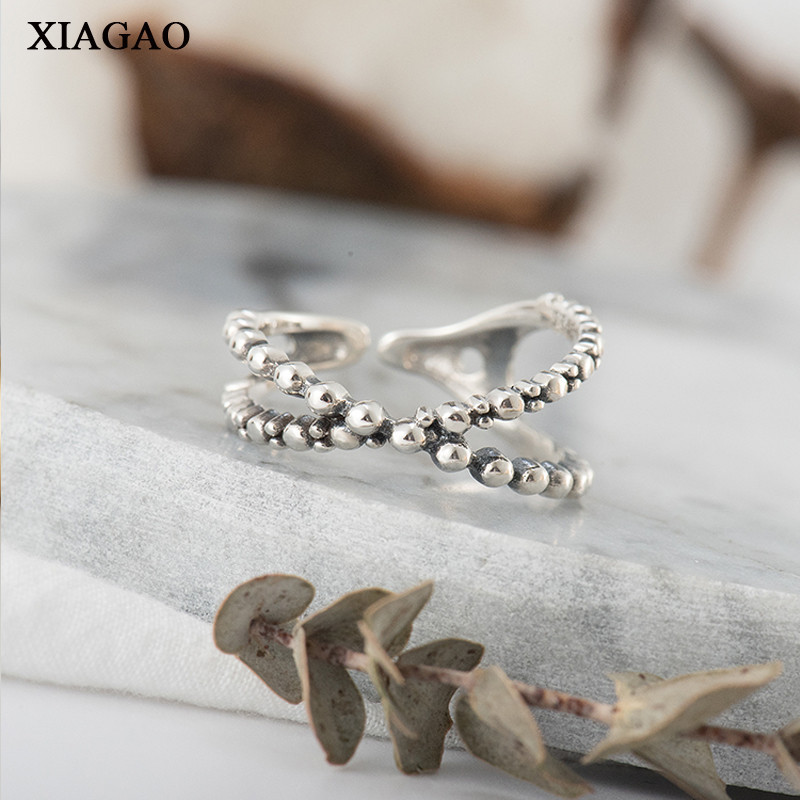 XIAGAO Infinity Cross 100% 925 Sterling Silver Finger Ring for Women Anniversary Gift Wedding Party Korean Jewelry AART0111