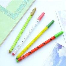 4pcs/lot Kawaii Creative fruit series Gel Ink pens Student signature pen Student Office caneta child Reward Gift stationery
