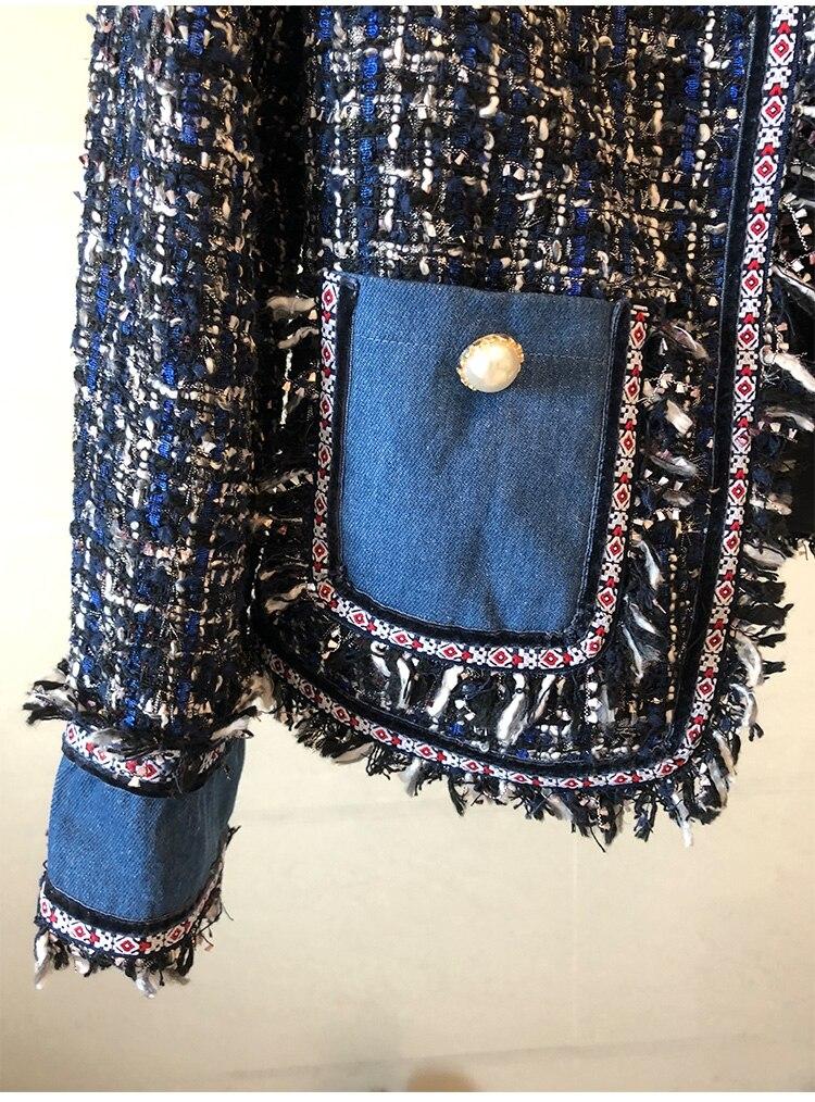 Tweed Automne De Color Vestes Manches Veste Haute Picture À O Qualité Designer Longues Mode Manteaux Glands 2018 Femmes Luxe Piste Color cou picture qnwxR8Z5Fx