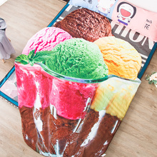 1pcs Cartoon ice cream Summer Cool blanket air conditioning comforter children Adult in summer bedding