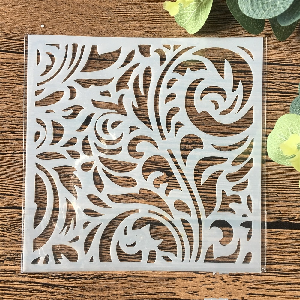 13cm Flower Background DIY Craft Layering Stencils Wall Painting Scrapbooking Stamping Embossing Album Card Template