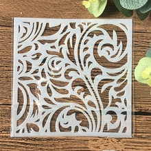 13cm Flower Background DIY Craft Layering Stencils Wall Painting Scrapbooking Stamping Embossing Album Card Template 15 15cm diy craft art stencil template for wall tile painting scrapbooking stamping album decor embossing card