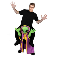 Pick Me Up Alien Fancy Dress UFO Costume Superhero Alien Cosplay Costume Boys Halloween Animal Mascoat Costumes Onesie Unisex