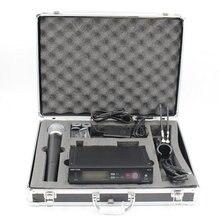 Caixa de Caixa de alumínio SLX24 BETA58 UHF Microfone Sem Fio Sistema De Karaoke Com Transmissor de Mão Sem Fio Mic