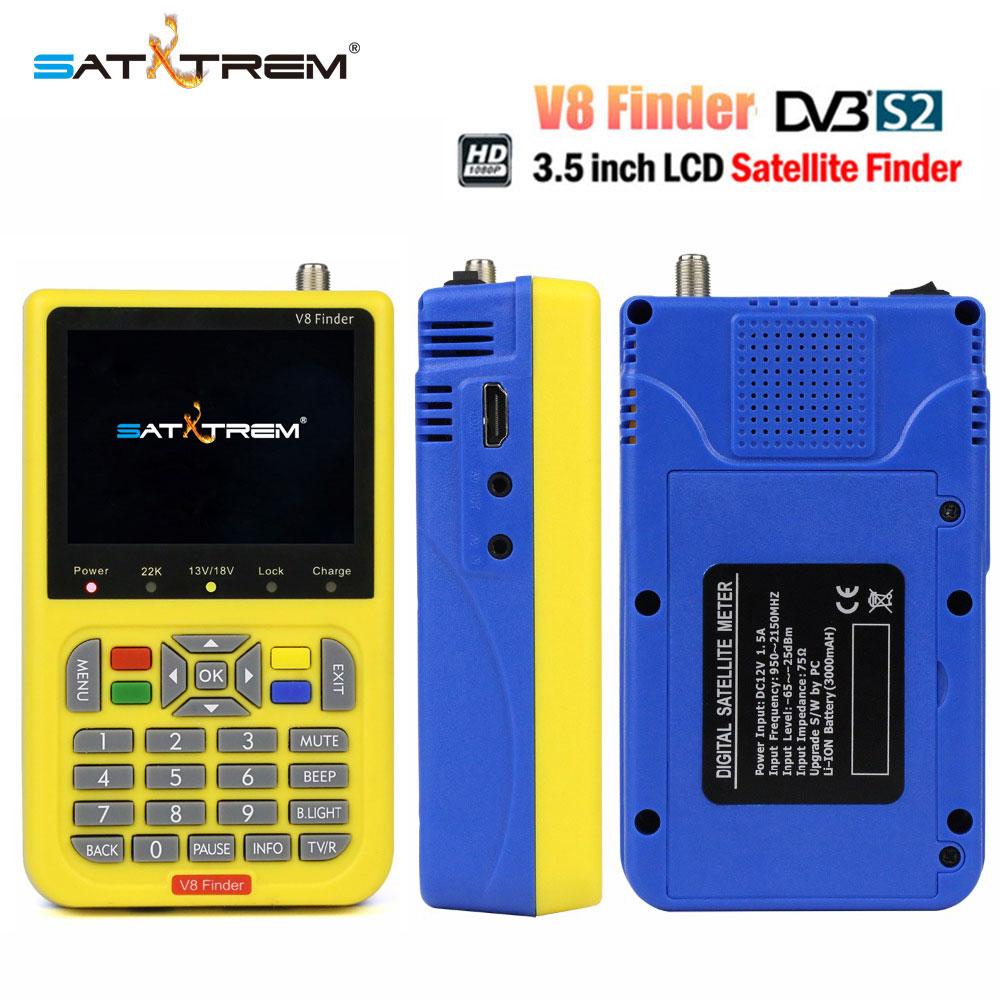 Satxtrem DVB-S2 V8 Finder HD Digital Satellite Finder With 3.5 inch LCD Display MPEG-4 Satfinder Similar To Freesat V8 Finder цена