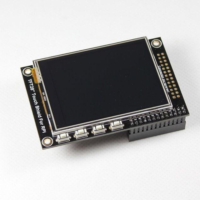 """2.8 """"TFT LCD display + tela sensível ao toque de expansão para Raspberry Pi B +/B Placa"""