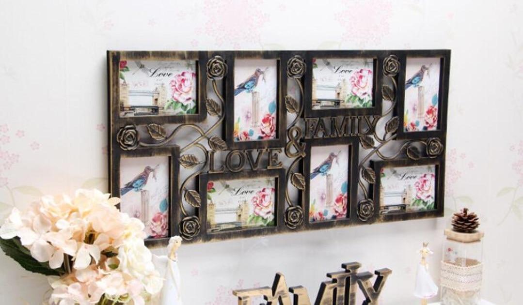 Foto Marcos familia amor grandes multi 8 pared colgante foto Collage ...