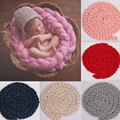 Girl Boy Infant Newborn Clothes Baby Unisex Handmade Braided Children Wrapped Blanket Photography Props Bottoms Bebe Sleeping