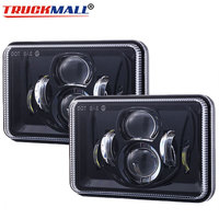 For Chevy Camaro Iroc Z Square 4x6Inch 12V 24V LED Truck Headlights Sealed Beam Projector Headlamp with Hi/Lo Beam Truck Light