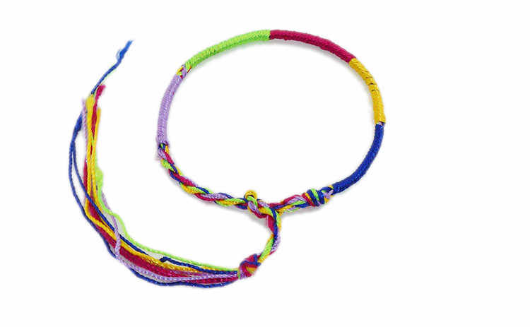 1pc Mix color send Popular Colorful rope bracelet hand rope Bracelets for women and girls