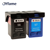 OYfame For HP56 57 Ink Cartridge Replacement For HP56 57 Compatible For Deskjet 5150 450CI 5550 5650 7760 1350 Inkjet Printer