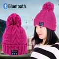 Mujeres Warm Beanie Hat Cap Auricular Micrófono Altavoz Bluetooth Inalámbrico Inteligente A57