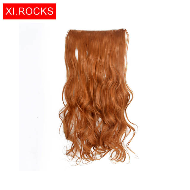 Online Shop Xi Rocks Clip In Synthetic Hair Extensions Women Heat Resistant  Curly Long Wave Hair Clips For Women Extension Fake Blonde Hair  bf3eac42a1