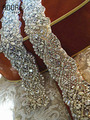 2016 New arrival beaded crystals bridal sashes sparkly rhinestone diamond wedding belts handmade blings trim for dresses