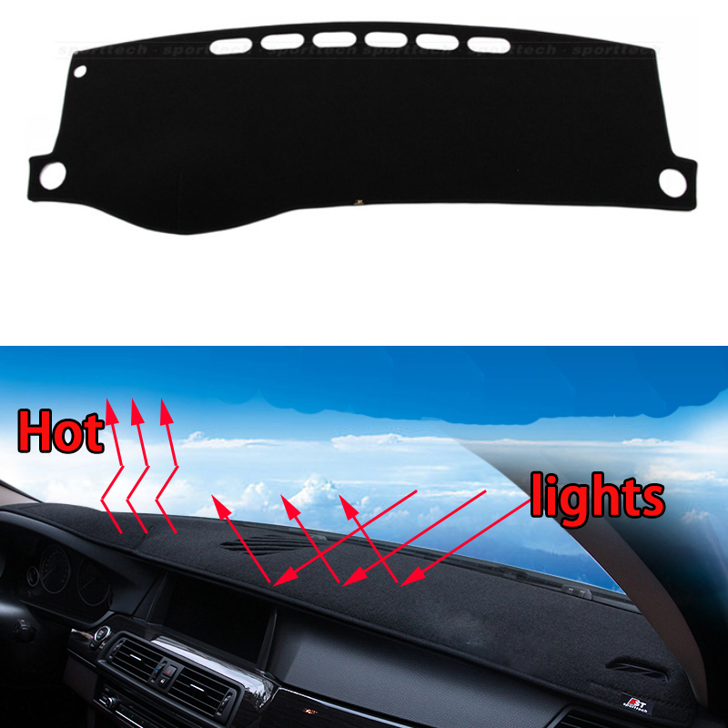 Car dashboard Avoid light pad Instrument platform desk cover Mats Carpets Auto accessories car styling for Geely Vision 2006-16 car dashboard avoid light pad instrument platform desk cover mats carpets auto accessories for hyundai elantra 2008 2016