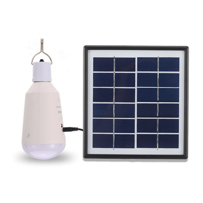 High Power Multi-Functional Solar Led Bulb Camping Lantern 2W Polycrystalline Solar Panel Powered 7W Emergency Camping Light ...