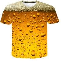 AliExpress мужская одежда новый пивной пузырь цифровой печати Футболка мужская Спортивная майка