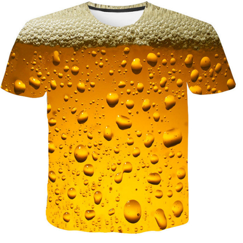 Aliexpress Sell Like Hot Cakes Men/boy Sweatshirt Hoodies Milk Fiber Beer Bubble 3D T-shirt Parent-child Outfit футболка мужская