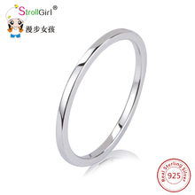 Silver Circle Round Engagement Ring For Women 925 Sterling Silver Rings Wedding Accessories Fashion Fine Jewelry Wholesale