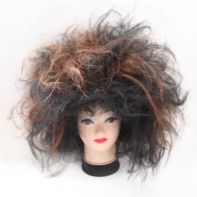 Halloween wig COS ball props dress up African dirty wig Indian black savage Explosive head Savage Wig Headband Wig Cosplay