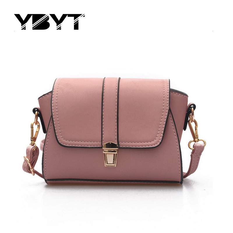 YBYT brand 2017 new fashion vintage soft PU leather women flap hotsale ladies ev