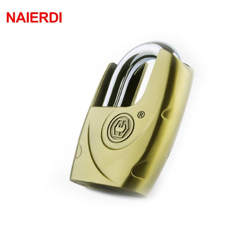 NAIERDI C8 Series Super B Grade Self-elastic Padlocks Anti-Theft Safe Lock Rustproof Antique Bronze Security Padlock With 4 Keys