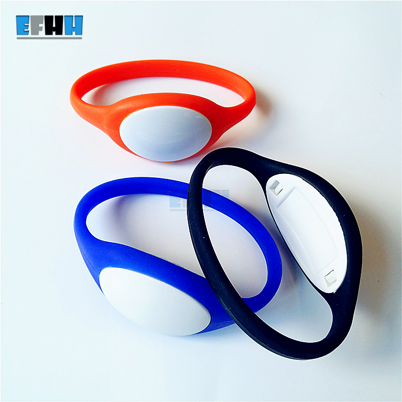 125KHZ TK4100/EM4100 RFID Bracelet Silicone Wristband Watch ID Card Read Only For Sauna Swing poor Baths in Access Control Card 100pcs tk4100 125khz rfid wristband bracelet silicone waterproof proximity smart card watch type for access control