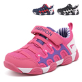New Arrivals Kid Sport Shoes for Boy and Girl Lightweight Casual Children Sneakers Pink Hook And Loop Kids Outdoor Tank shoes