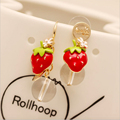 Strawberry Earring Cute Flower Earring Long Tassel Asymmetric Exaggerated Earrings