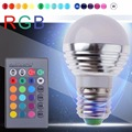 Hot Sale 3W E27 led RGB Bulb Light Lamp 16 Color Changing with Wireless Remote Control