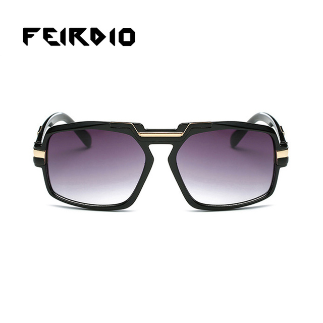 5a3c9952e487d Feirdio Unique Men Women Sunglasses Resin Frame Lens Goggle Oversized  Square Anteojos De Sol Polarizer Multifunction Outdoor