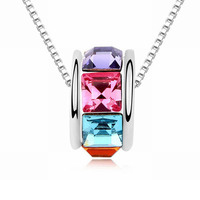 2016 Christmas Gift Hot Sale Romantic Quality Pendant Geometric Necklaces Crystals From Swarovski Wholesale