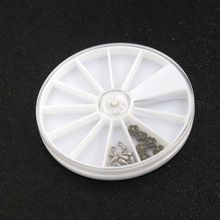 1PCS Environmental Round White Plastic Container For Beads Jewelry Plate Display Holder Storage Handmade DIY Accessories