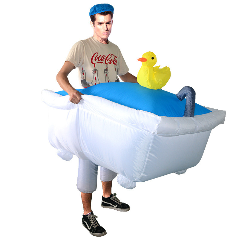 Adult Bathtub Inflatable Costumes Halloween Christmas Cosplay Funny Carnival Party Parent child Activity Show Clothes C73113AD