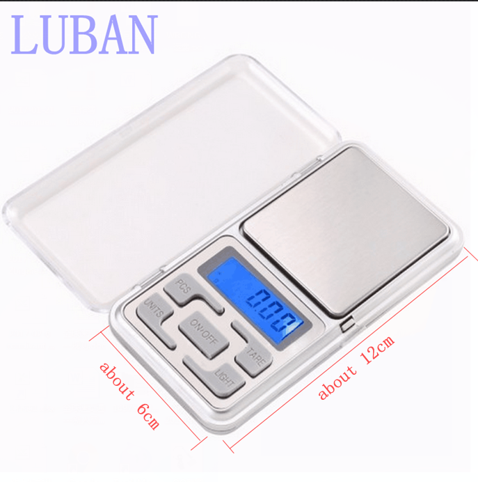 Electronic LCD Display scale Mini Pocket Digital Scale 200g*0.01g Weighing Scale Weight Scales Balance g/oz/ct/tl LUBAN seesii newborn baby infant scale abs lcd display weight toddler grow electronic meter digital professional up to 20kg