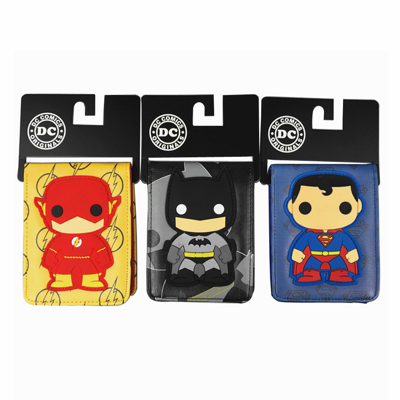 The latest version of DC comics super heroes series superman batman flash purse around his wallet flash wallet dc comics heroes vs villains bi fold purse dft 1574