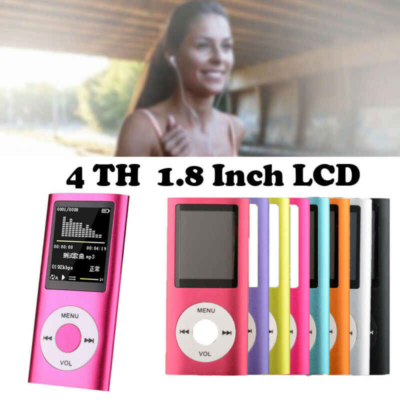 MP4 Player 32GB MP3 Display TFT LCD Portátil Music Video Media Fones De Ouvido Fones De Ouvido