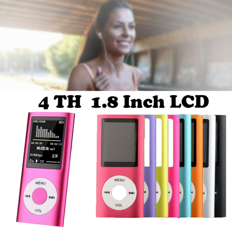 MP4 Player 32GB Portable LCD MP3 TFT Display Music Video Media Headphones Earphones image