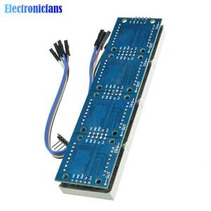Image 5 - MAX7219 LED متحكم صغير 4 في 1 عرض مع 5P خط نقطة مصفوفة وحدة 5 فولت التشغيل الجهد لاردوينو 8x8 نقطة مصفوفة مشتركة