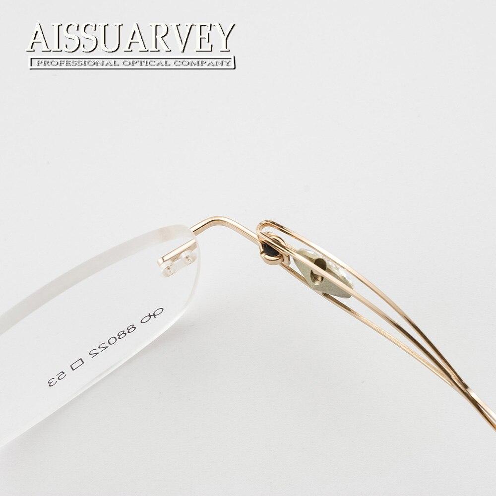 286b8b2c86 Rhinestone Diamonds Rimless Eyeglasses Frames Women Optical Glasses Luxury  Prescription Brand Designer Top Quality Eyewear New-in Eyewear Frames from  ...