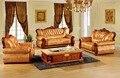 Sistema del sofá de cuero sofá de la sala Europeo de lujo made in China seccional sofá marco de madera 1 + 2 + 3