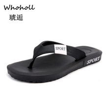 Whoholl 2019 Summer Beach Slippers Men Flip Flops High Quality Sandals Zapatos Hombre Casual Shoe Drop Shipping  40-45