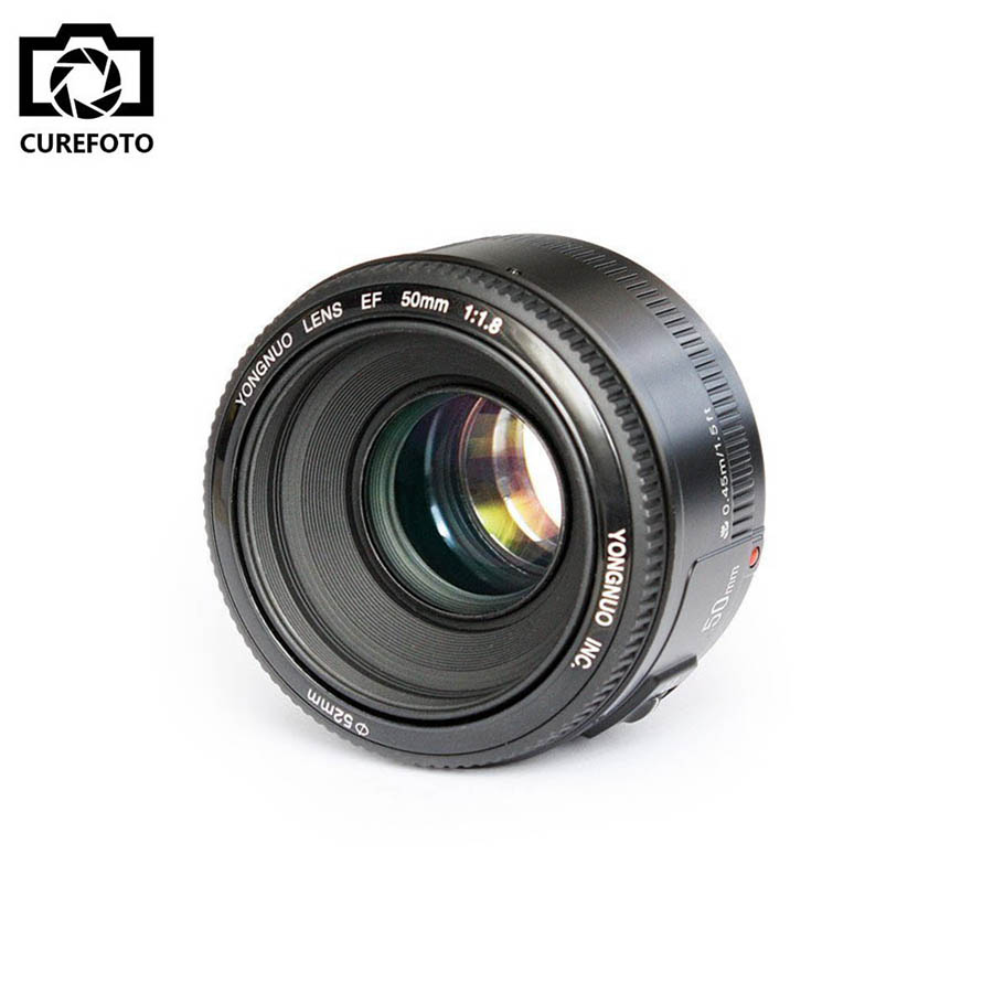YONGNUO YN50mm YN 50mm F1.8 Standard Prime Lens Large Aperture Auto Focus AF MF Lens For Canon EF Mount Rebel DSLR Camera