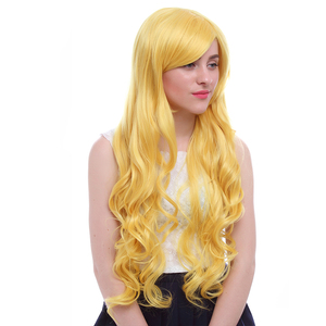"Image 2 - L דוא""ל פאת הגעה חדשה כוכב לעומת כוחות רשע קוספליי פאות צהוב ארוך עמיד בחום סינטטי שיער perucas פאת קוספליי"