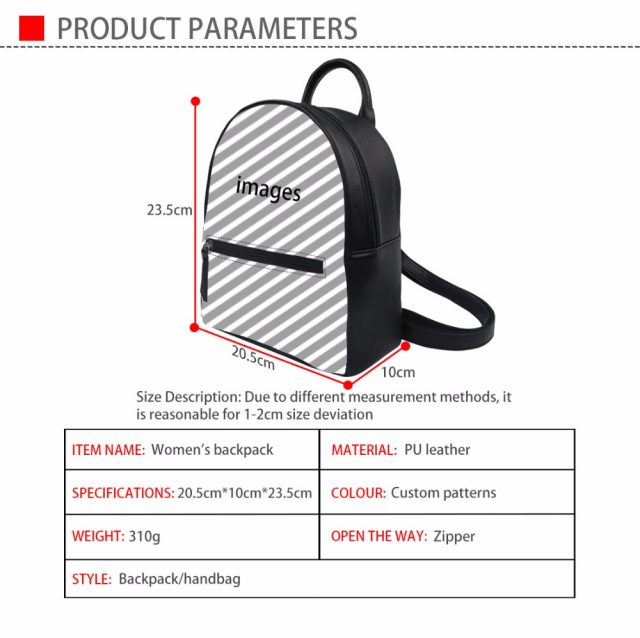 94f7bdd4d63f Товар FORUDESIGNS Black BTS PU Women Backpacks Fashion Bangtanboys ...