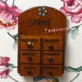 Dollhouse Miniature Toy 1:12 kitchen wooden Spice Flavor Box Case shelf RL1341A
