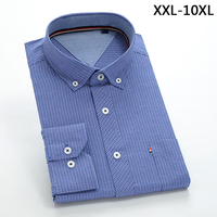 2018 New Comming Mens Long Sleeve Cotton Shirts Formal Dress Shirts Very Big Large Plus Size