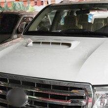 Prise dair universelle couleur argent/blanc/noir, Turbo, capot avec ventilation décorative, habillage pour voiture